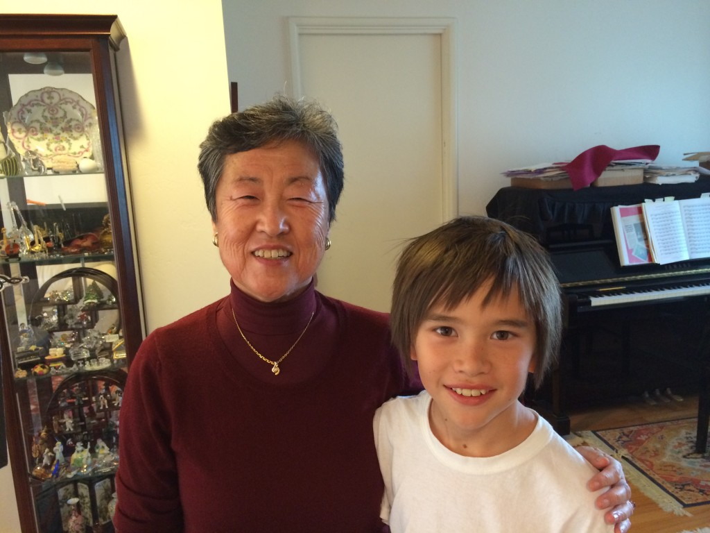 Mrs. Onaka with one of her students.